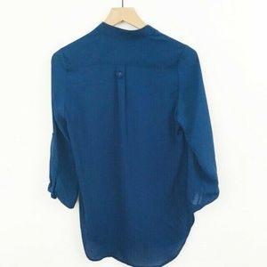 41 Hawthorn Tops - 41 Hawthorn Stitch Fix Navy Blue Popover Top